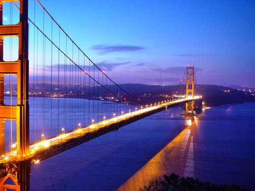 Golden Gate bridge1 500x375 綺麗!豪華・絢爛! 世界の夜景 画像集