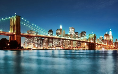 new york city light river night view buildings 500x312 綺麗!豪華・絢爛! 世界の夜景 画像集