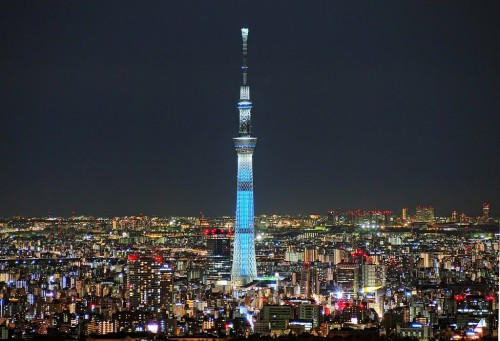 sky tree1 500x341 綺麗!豪華・絢爛! 世界の夜景 画像集