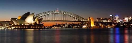 sydney Harbour bridge opera house 500x166 綺麗!豪華・絢爛! 世界の夜景 画像集